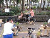 オランダの自転車で空想の街へ|商店街でのワークショップ