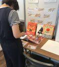 参加者みんなのページをつなげる絵本作り|商店街でのワークショップ